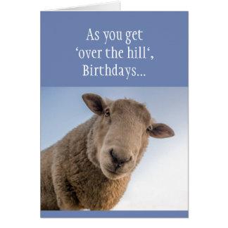 """Cartão Aniversário engraçado """"sobre o monte Bull*&% ou"""