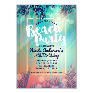 Cartão Aniversário ensolarado do verão das palmeiras do