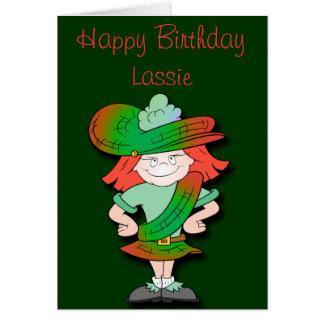 Cartão Aniversário escocês do Lassie