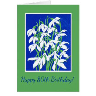 Cartão Aniversário específico à idade dianteiro feito sob