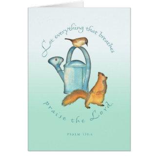 Cartão Aniversário/esquilo e carriça
