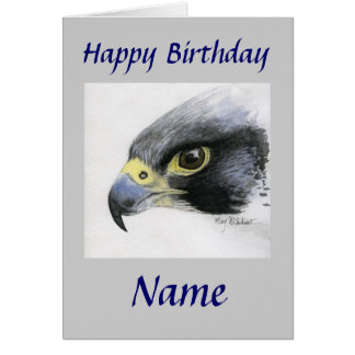 Cartão Aniversário Falcão-Feliz do peregrino