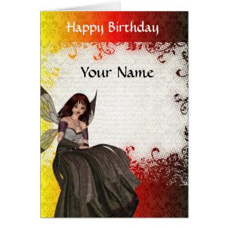 Cartão Aniversário feericamente gótico bonito