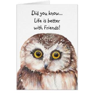 Cartão Aniversário feito sob encomenda do melhor amigo