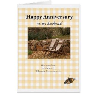 Cartão Aniversário feliz, ao meu, husban