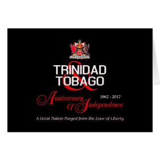 Cartão Aniversário feliz da independência T&T