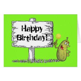 Cartão Aniversário feliz da salmoura!