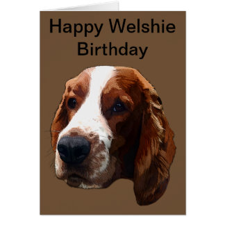 Cartão Aniversário feliz de Welshie
