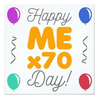 Cartão Aniversário feliz do 70