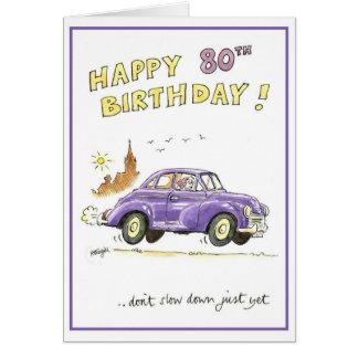 Cartão Aniversário feliz do 80