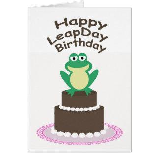 Cartão Aniversário feliz do dia de pulo