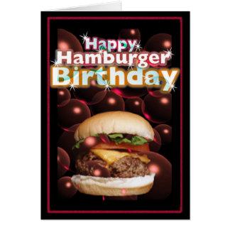 Cartão Aniversário feliz do Hamburger por Valxart