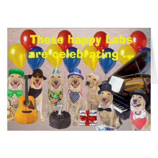 Cartão Aniversário feliz do laboratório