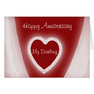 Cartão Aniversário feliz meu coração vermelho romântico