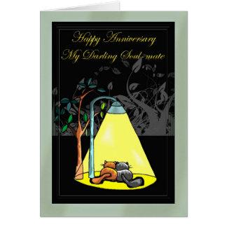 Cartão Aniversário feliz minha alma gémea querida