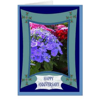 Cartão Aniversário feliz, roxo brilhante