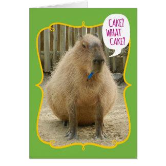 Cartão Aniversário gigante engraçado do Capybara