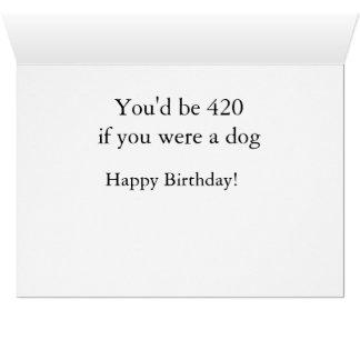 Cartão Aniversário-Girar 60 não é tão mau. Apenas pense…