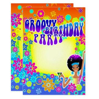 Cartão Aniversário Groovy