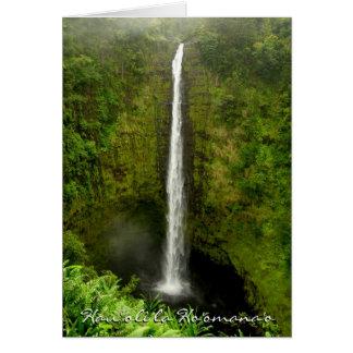 Cartão Aniversário-Havaí feliz