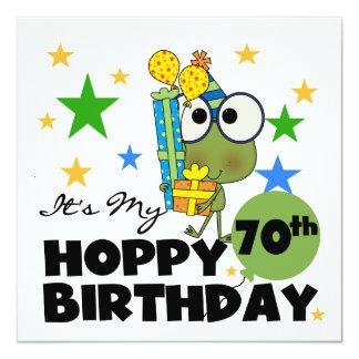 Cartão Aniversário Hoppy do 70 de Froggie