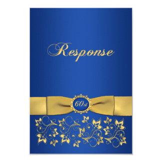 Cartão Aniversário IMPRESSO RSVP da forma 60th do rico da