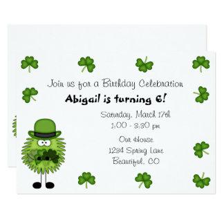 Cartão Aniversário irlandês do Dia de São Patrício do
