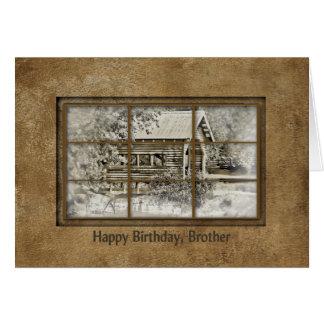 Cartão Aniversário - irmão - opinião da janela - ponte