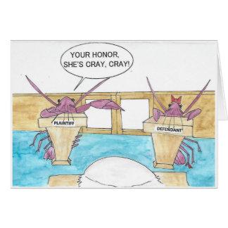 Cartão Aniversário louco das lagostas