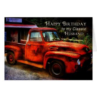 Cartão Aniversário - marido - caminhão clássico