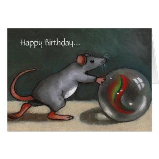 Cartão Aniversário: Mármores perdidos: Engraçado: Arte