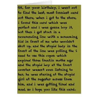 Cartão Aniversário mau