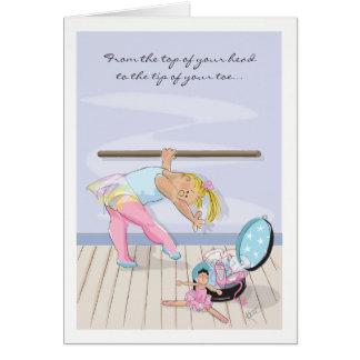 Cartão Aniversário na barra do balé