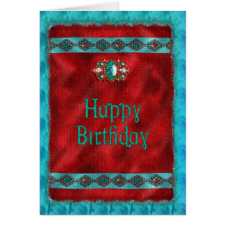 Cartão Aniversário - nativo americano - estilo do