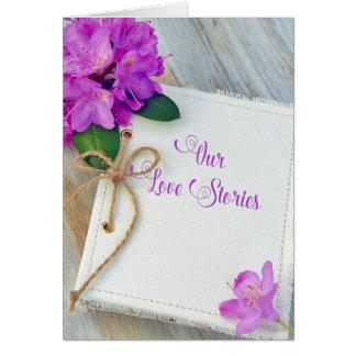 Cartão aniversário para o jornal do amor do casal