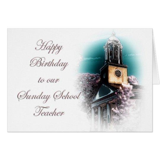 Cartão Aniversário para o professor de catequese