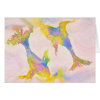 Cartão Aniversário Pastel do símbolo do zodíaco dos