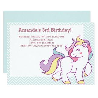 Cartão Aniversário Pastel dos animais da MENINA do