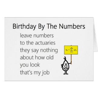 Cartão Aniversário pelos números - um poema engraçado do