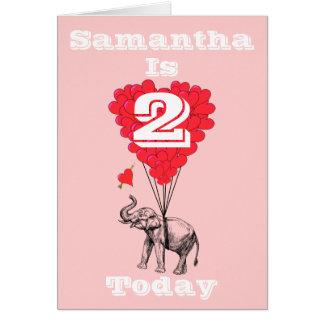 Cartão Aniversário personalizado das meninas