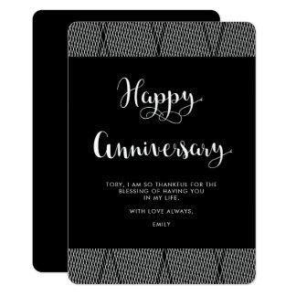 Cartão Aniversário preto e branco