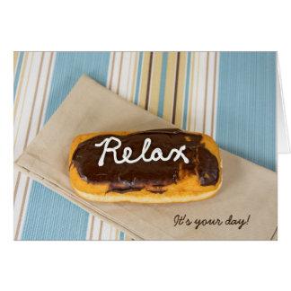 Cartão aniversário-relaxe na rosquinha