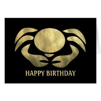 Cartão Aniversário rústico impresso do caranguejo do