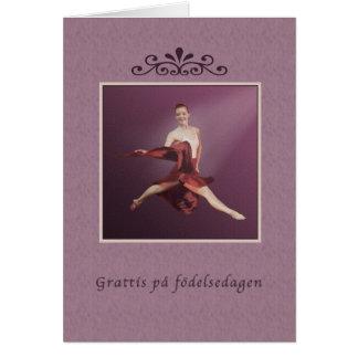 Cartão Aniversário, sueco, födelsedagen do på de Grattis,