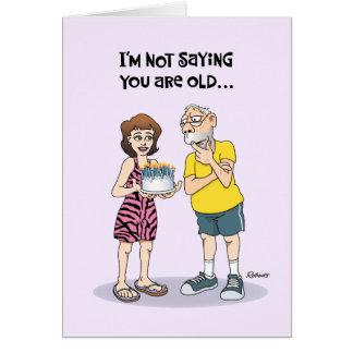 Cartão Aniversário superior engraçado