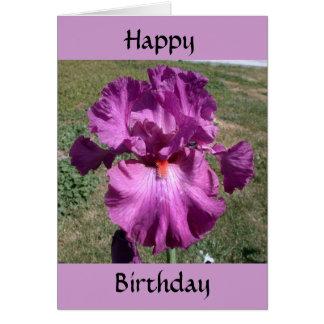 Cartão Aniversário tardivo - lembrete