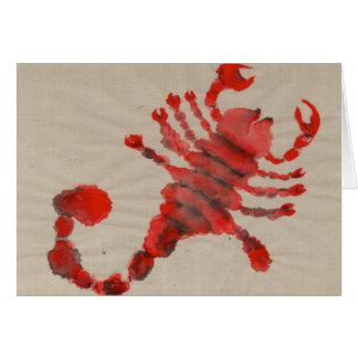 Cartão Aniversário vermelho do símbolo do zodíaco da