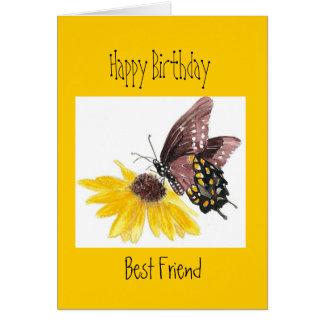 Cartão Aniversário - você é o melhor amigo da borboleta