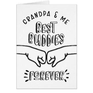Cartão Aniversário - vovô & mim, os melhores amigos para