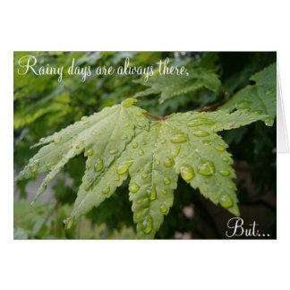 Cartão Aniversários do dia chuvoso